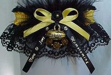 Homecoming Garters / Homecoming Garters fit for a Queen and her Court. Official site for the Personalized Homecoming Garter. Football Spirit Garters in your School colors or 175 colors available to match your dress for the Homecoming Dance. / by garters.com