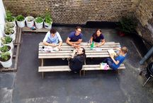 The Bare Garden / Lunch in the sun, growing out of paint tubs and BBQs!  / by Bare Conductive