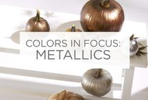 Colors in Focus: Metallics / A hint of shimmer or a wall of glitz, adding a metallic finish to your space can do wonders.  / by Valspar