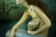 Mermaid Art / Mermaid art, mermaid paintings, mermaid drawings, mermaid sculptures. / by Laura Bennett