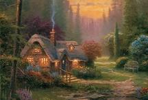 Thomas Kinkade / Thomas Kinkade, Painter of Light, dies at the age of 54. R.I.P. 1958 - 2012 / by Linda Denver