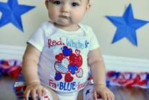 Girls:Fourth of July Outfits, Accessories, Bows / by Destiny Violet Leshay Copass