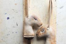 Rabbits and Bears and Sheep.... OH MY! / by Primitive Folk Artist Sue Corlett