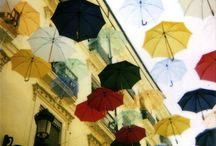 """Les Parapluies de Cherbourg / Inspired by """"Umbrellas of Cherbourg."""" / by Robyn Pizzo"""