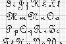 Cross Stitch Alphabets / by Time To Enjoy Life