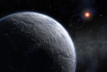 Экзопланеты. / Экзоплане́та — планета, обращающаяся вокруг звезды за пределами Солнечной системы. Первые экзопланеты были обнаружены в конце 1980-х годов.  На 1 сентября 2014 года достоверно подтверждено существование 1821 экзопланеты в 1135 планетных системах, из которых в 467 имеется более одной планеты.Общее количество экзопланет в галактике Млечный Путь в настоящее время составляет от 100 миллиардов, из них от 5 до 20 миллиардов, возможно, являются «землеподобными».  (Изображения в представлении художника) / by Лара