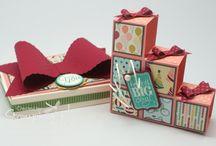 Folding box cards / Folding blocks blox card stampin up  / by Hafsa Creates