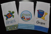 Personalized Burp Cloths, Bibs and Baby items / by Connie K