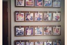 Hanging Photos / Creative and clever ways to display photos / by Karen Burns