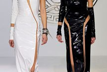 Shiny pvc, rubber on catwalks / by Norman