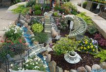 redneck bonsai / fairy garden ideas / by Patti Belnap