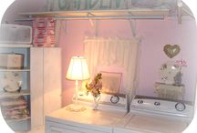 "Laundry Rooms / My Laundry room is in the basement...thanks for all the ideas to ""Brighten"" it up... / by Cindy Hart"