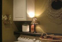"""Garage/Laundry Area / Things to """"pretty up"""" laundry area / by Dawn Dunnivant"""
