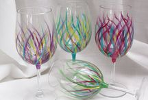 Awesome Wine Glass Art! / by Shelley Corpuz-Kuhn