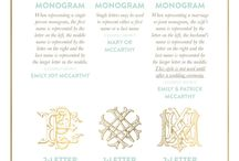 Monograms / by Holly Mathis Interiors