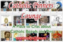 CatholicPinnersLounge / Conversations: It's currently a bit tricky to have conversations around Pins and Boards on Pinterest. So, we created this Awestruck Site to help facilitate discussion around Catholic pins and boards. With Awestruck we can also sync one or more of your boards (upon request) to your Awestruck profile so that when you pin, the Awestruck community gets to know about it. Go to www.awestruck.tv/pinners. / by Ana St Paul