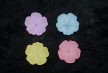 Plastic - Flowers and Leaves, by Berger Beads / Plastic beads in the shape of flowers and leaves from Berger Beads. www.bergerbeads.net / by Victoria Rubin