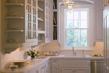 Kitchen-white cabinets / by Paul Revere Revolutionary Service