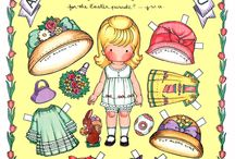 Paper dolls / As a kid, I loved paper dolls. As an adult/artist, they still fascinate me. / by Kim Hart