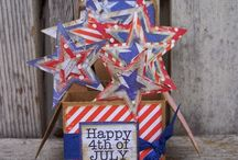 Brought to you by the Red, White & Blue / Check out these fun 4th of July Projects!  / by Tombow USA