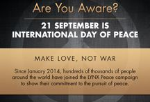Lynx celebrates Peace One Day / In January 2014, Lynx embarked on a global campaign to spread a message of peace and create awareness for International Day of Peace (#PeaceDay) on 21st September.   Across local communities and national stages during the campaign, acts of peace took many forms - from actions like sharing a kiss, giving blood or recognising champions of peace in local communities, to the arts, fashion, music and photography  #MakePeace  / by Lynx