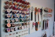 craft room storage ideas / by Erin Born