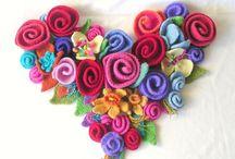 Fabric Flowers / by Jackie Clark