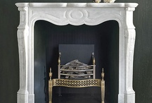 modern fireplace traditional mantel / by Heather Peterson