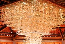 Receptions - Chandelier Wow Factor / Dramatic ceiling decor / by Tori - Platinum Elegance Weddings & Events