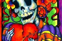 Dia De Los Muertos (Day of the Dead) / Mexican Day of the Dead celebration. Beautiful, haunting, loving, memorial of a holiday.  / by Designome