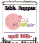 """Table topper Blog hop April 2012 / Here is what happens when ONE peek at a Ackfeldwire.com table topper and you  think """" let's do a blog hop, I want to be inspired"""". Well 46 ladies felt the same and thousands have joined us in this blog hop. Now the question is who is next? Who will be the next one to do up a mini? We are already thinking of doing yet another ...I know lol  note....I just LOVE these blog hop ladies.... WE all cannot wait for the next blog hop...we are thinking red, white and blue and mug rugs and mugs... / by Mdm Samm ..."""