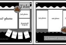 traditional scrapbooking/layouts / by Robin Vickery Ferguson