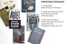 Faber Christmas - Pin to Win! / Pin to win in Faber & Faber's Christmas giveaway!  1. Simply follow Faber & Faber on Pinterest.  2. Re-pin the books you'd love to win from our special Christmas board.  3. We'll pick a winner at random from each pin to win a copy of the book. Competition closes 18.12.13. / by Faber and Faber