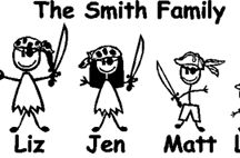 Family Stickers / Our family stickers are cut out of high quality outdoor rated vinyl to last for years. Our family decals are high quality die cuts. Most competitors print their family stickers on a solid material that will fade due to sun exposure. Our family sticker prices are the lowest starting at only $3.00 per family sticker figure. Car Stickers Family Stickers work very well on your car window or paint and don't leave any residue when they're removed. https://www.carstickers.com/family-stickers/ / by Car Stickers