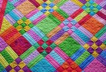 Quilts / Bright and beautiful. / by Margaret Brookes