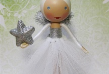 Dolls ~ Simple Peg; Wooden; Sculpted; etc / Lots of simple art dolls  / by Kathy Skaggs