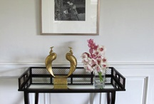 Brassy Vignettes / Vignettes utilizing brass accessories / by Limezinnias Design