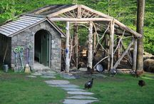 Garden structures / Yard buildings / by Kerry
