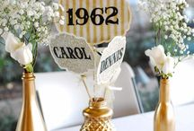 Golden Celebration {50th Wedding Anniversary Party Ideas} / by Kim Cole