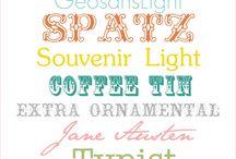 Free fonts  / by Virginie Balijon-demarle