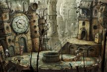 Fantasy Worlds / If a place exists in the imagination, it exists, right? Then again, some of these are in the real world inspired by fantasy. / by Dandie MacG