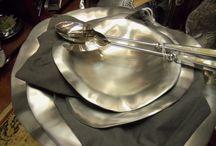 Pewter & Metalware / Handmade metalware, chill & heat foods / by Rickey Heroman