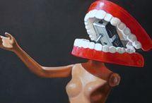 teeth / I love teeth. Teeth in art, tattoos, tagging, photos yes teeth. / by Elizabeth Curran CDT, RDT