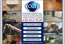 Custom Group Inc. Cleaning & Restoration / Your complete solution for carpet cleaning, restoration, and flooring needs. / by Dan Tanzer