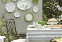 Decorating With Plates / Great decorating ideas using plates from your plate collection.  You can also pick up plates from thrift shops and yard sales in similar patterns or colors etc to add color or visual interest to a bare spot in your home. / by Lisa Seybold