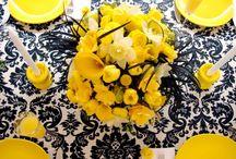 Black, Yellow White Wedding Theme / by Nigerian Wedding