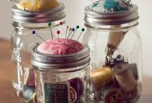 {love jars&buckets} / I. Love. Jars. (and buckets and paint cans...) / by Katie Davis