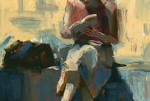 Art of Reading / If you are going to pose for a portrait, at least you can read while sitting still.....for hours. / by Donna Jones