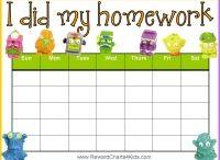 Homework Charts / by Reward Charts