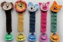 crochet pacifier holder / by Karen Webb